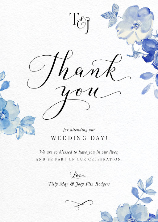 British Floral - Thank You Cards