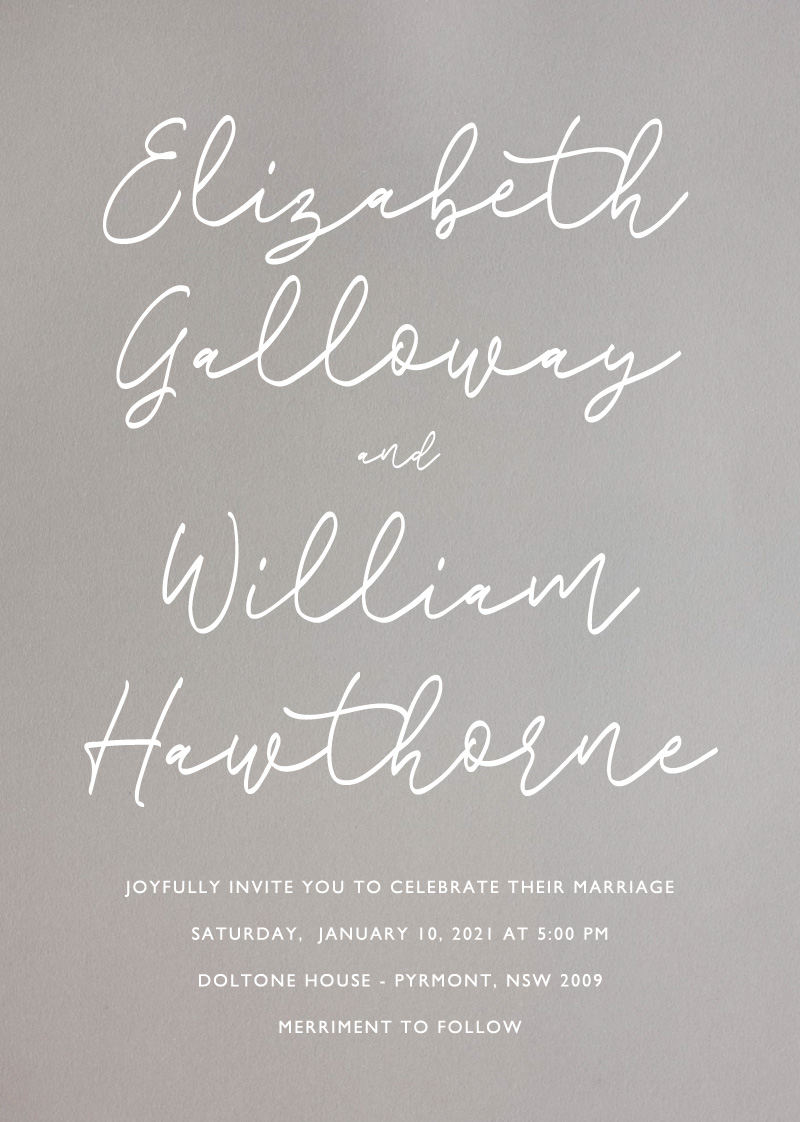 Scripted  - Wedding Invitations