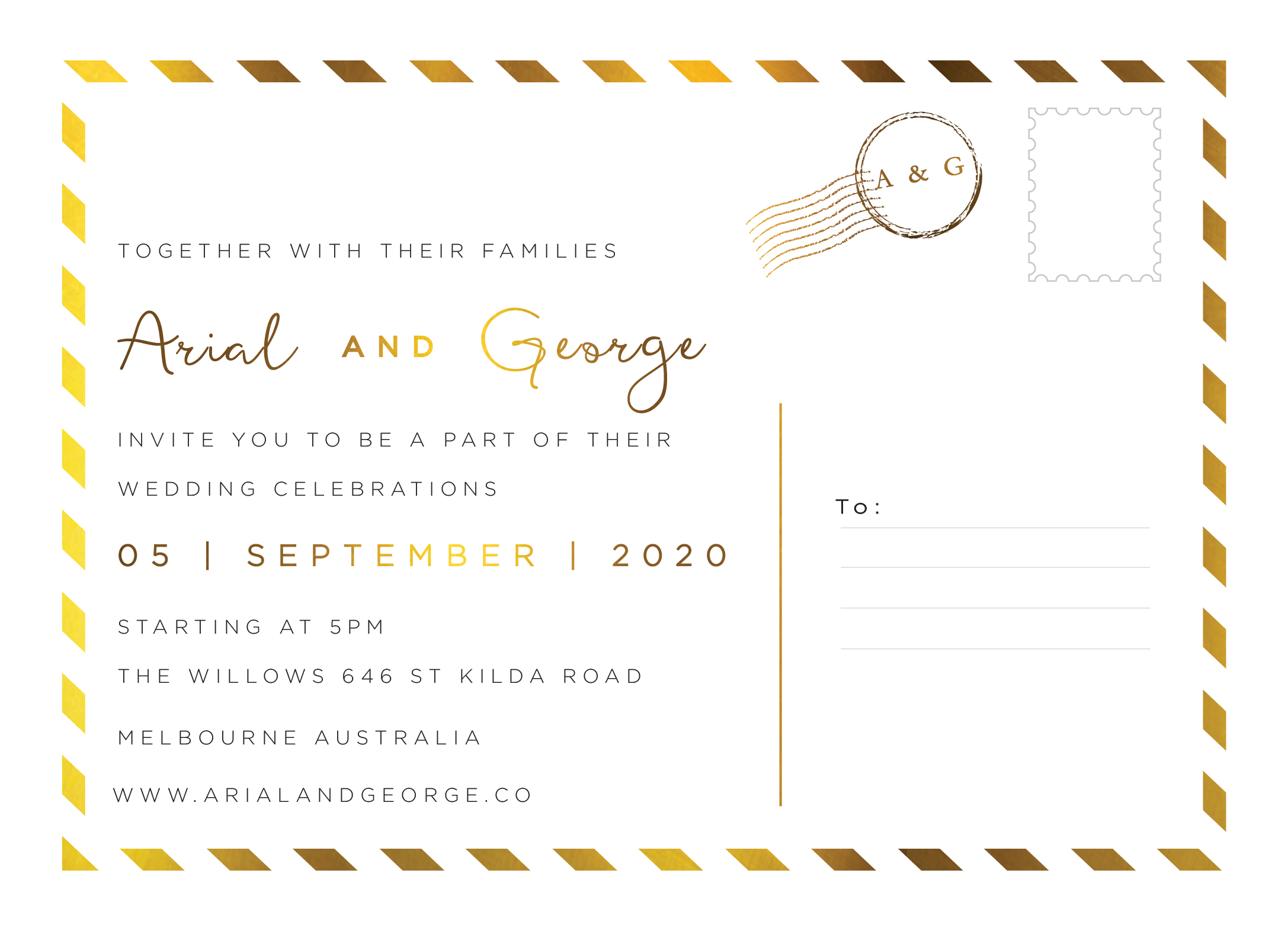 Postcard Foil - Wedding Invitations