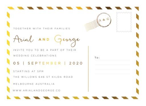 Postcard Foil - wedding invitations
