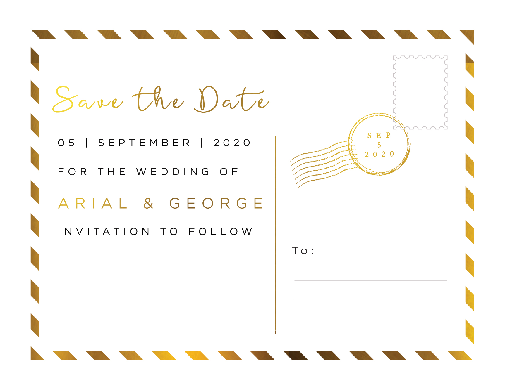 Postcard Foil - Save The Date