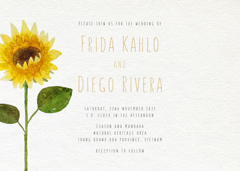 Sunflower Magic - Wedding Invitations