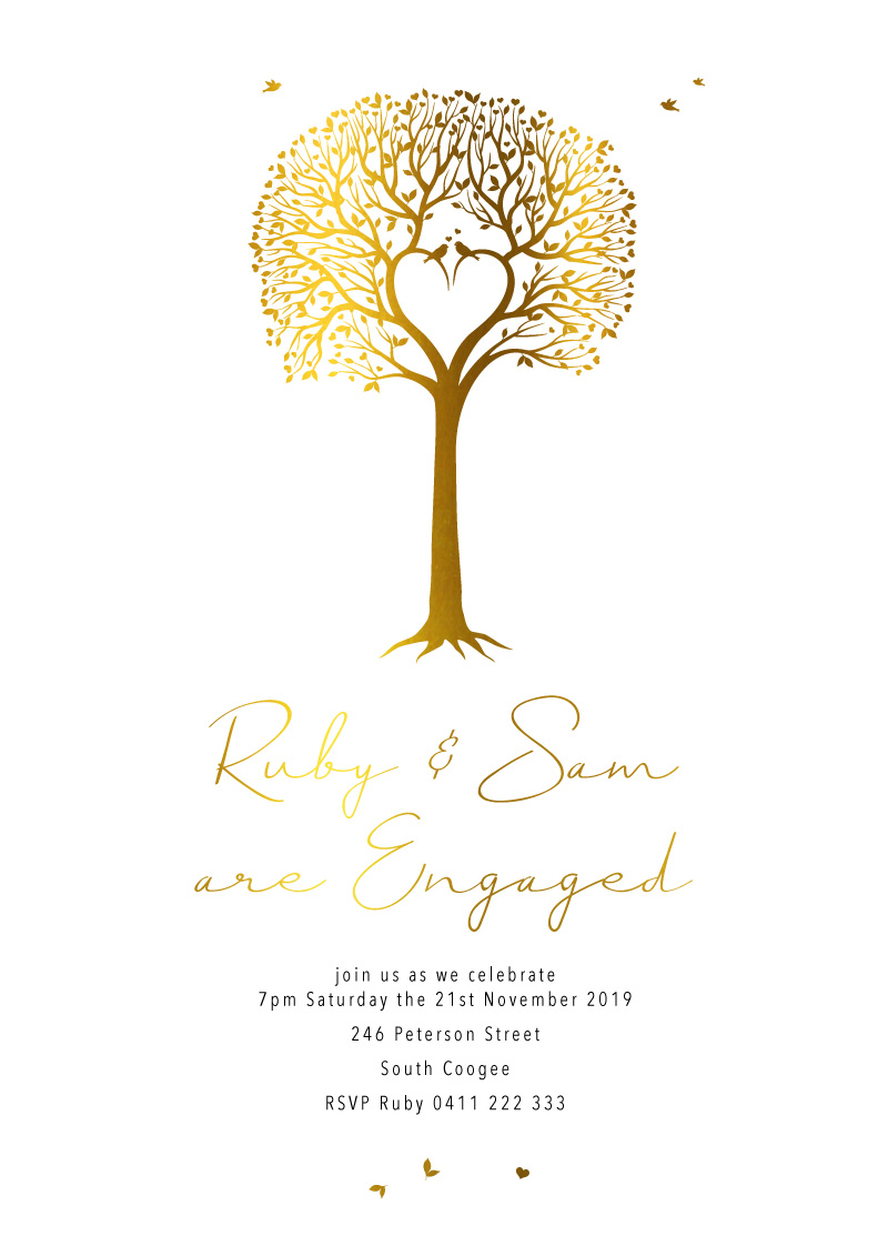 Love Tree - Engagement Invitations