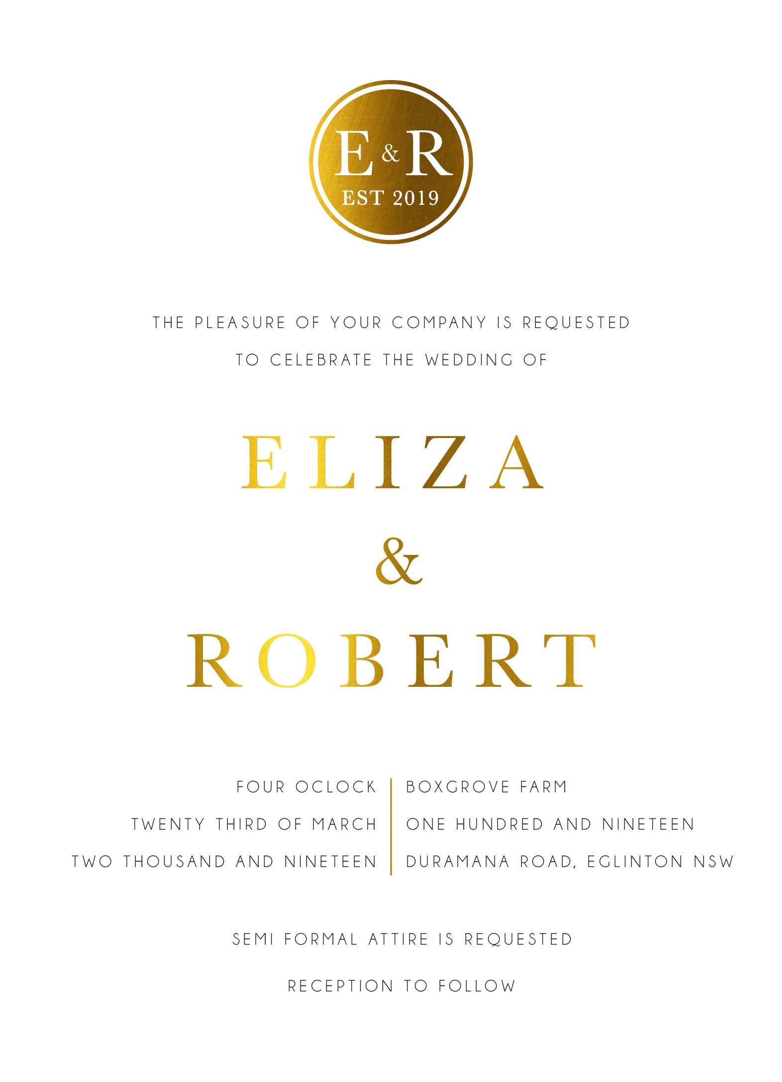 Classic Monogram - Wedding Invitations