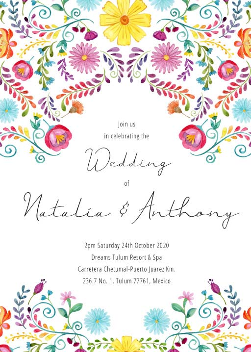 Fiesta de Bodas Wedding Invitations - wedding invitations