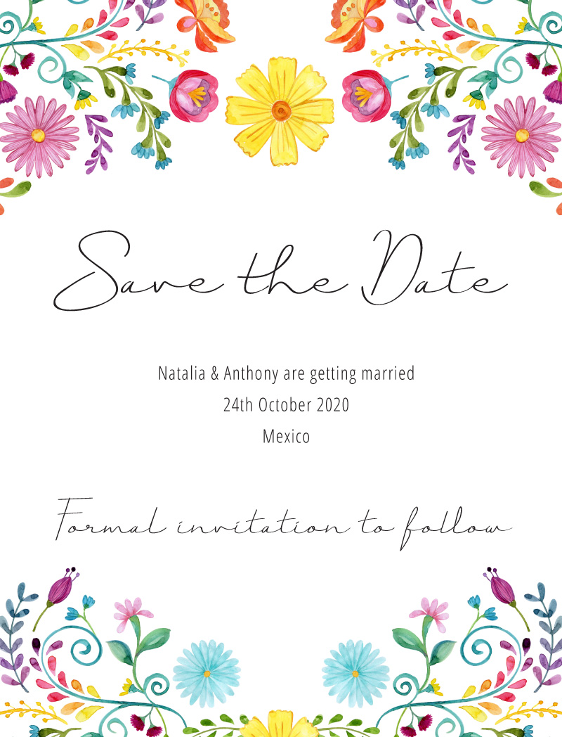Fiesta de Bodas - Save The Date