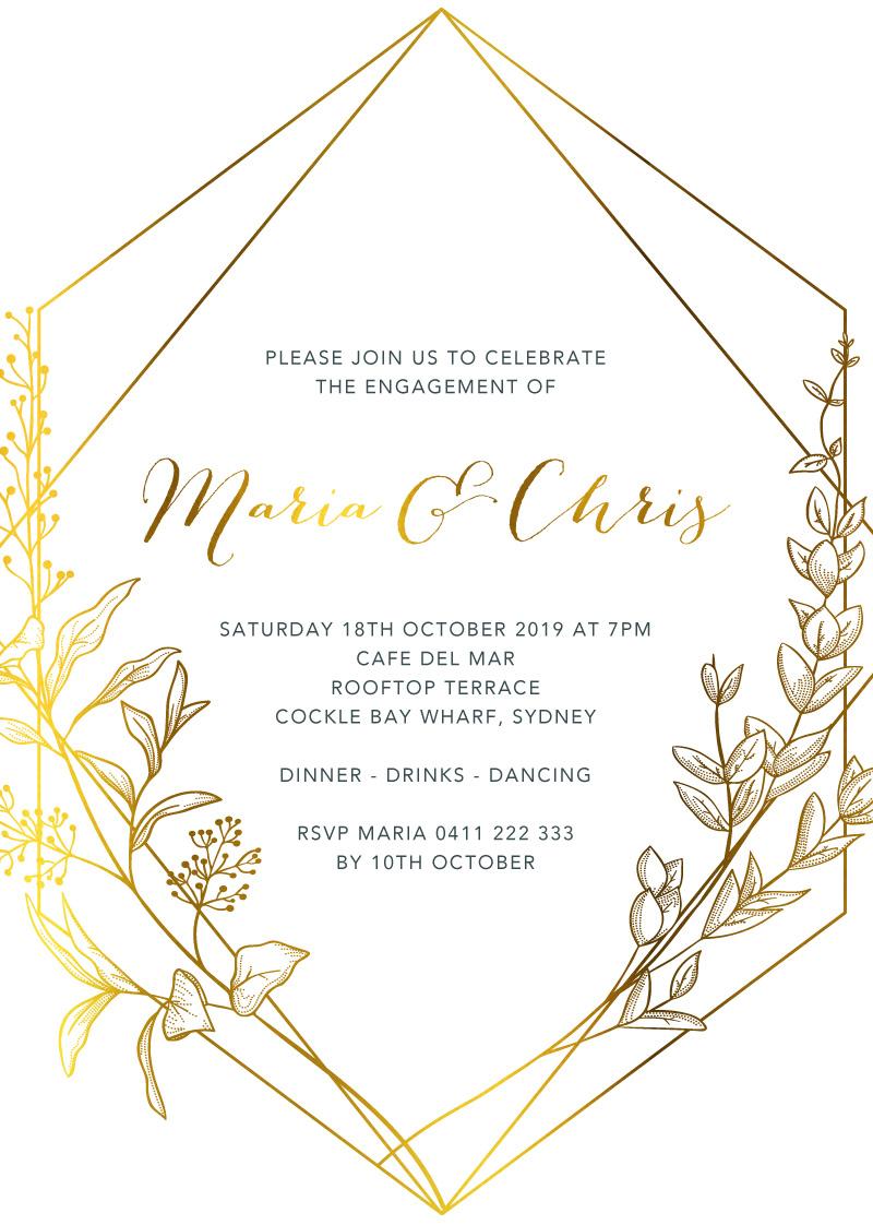 Saint Mary - Engagement Invitations