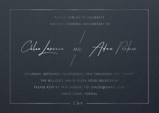 Modern Mode - Wedding Anniversary Invitations