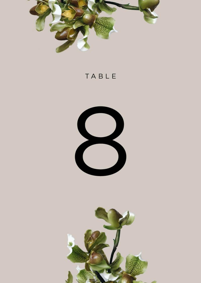 Sophia Kaplan - Table Numbers