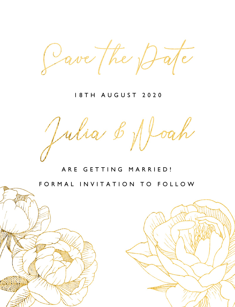 Peony Bloom - Save The Date