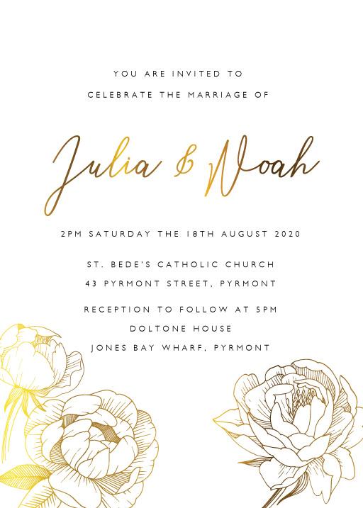 Peony Bloom Wedding Invitations - wedding invitations