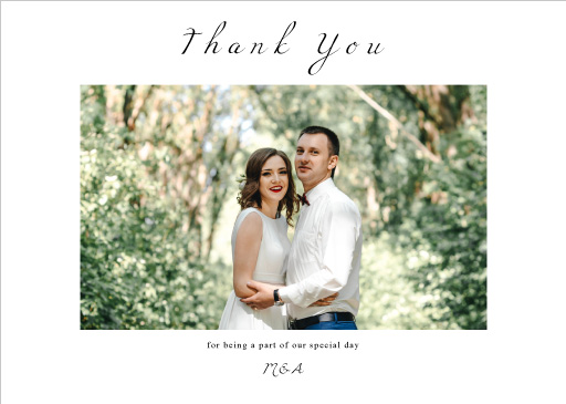 Wedding Petals - Thank You Cards