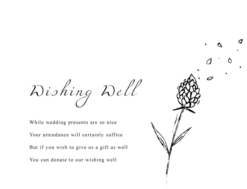 Wedding Petals - Wishing Well