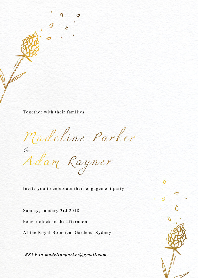 Wedding Petals - Engagement Invitations