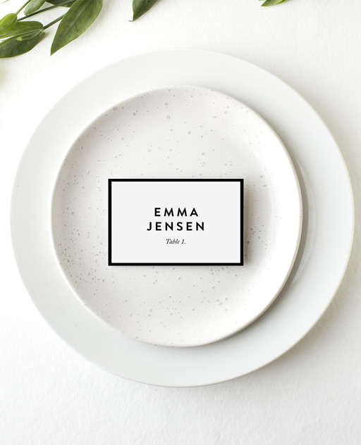 Minimal - Place Cards