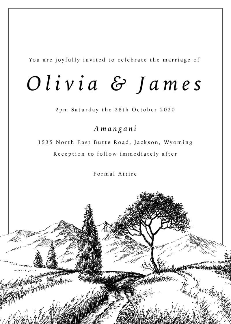 Love Land - Wedding Invitations