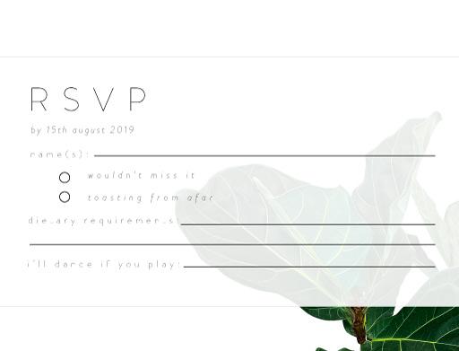 Fiddle Leaf Fig - RSVP Cards