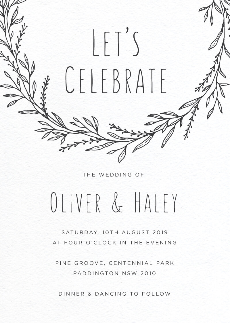Blank Space - Wedding Invitations