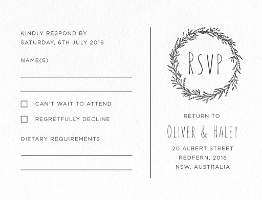 Blank Space - RSVP Cards