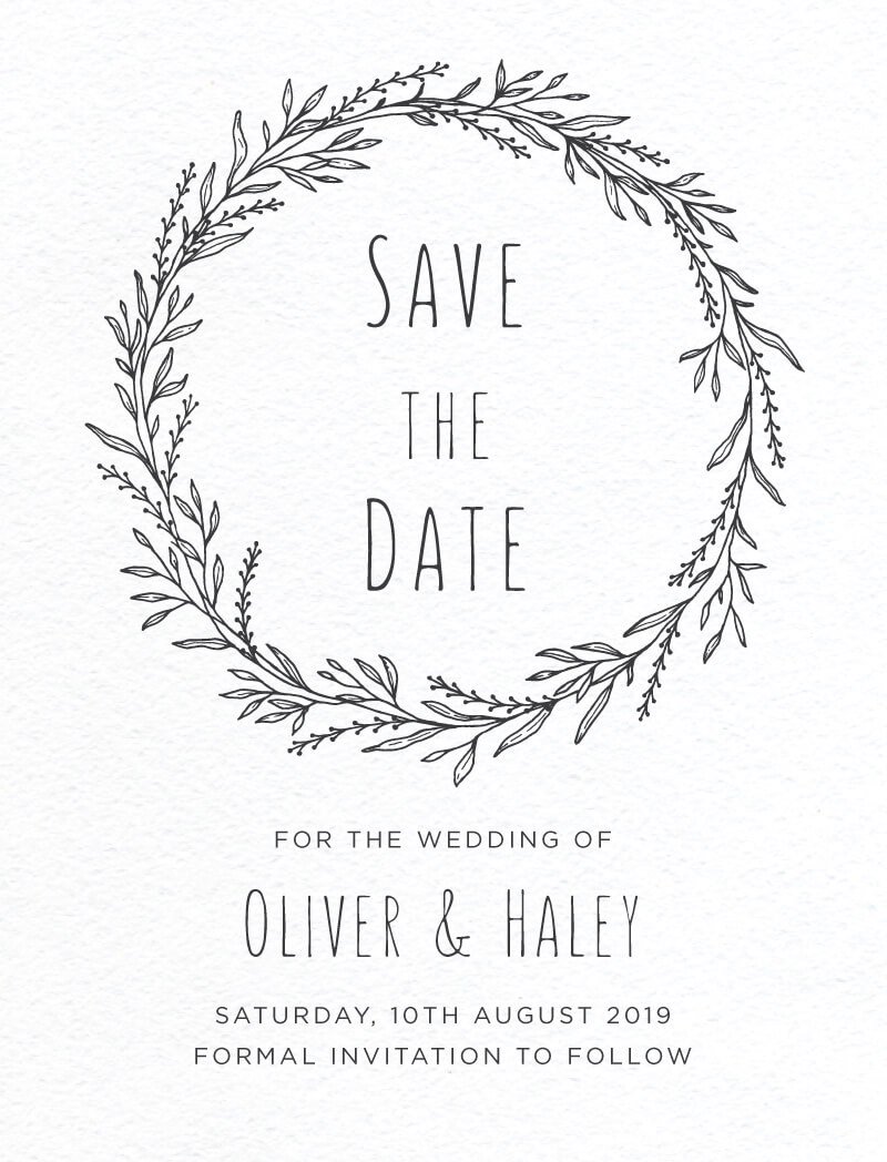 Blank Space - Save The Date
