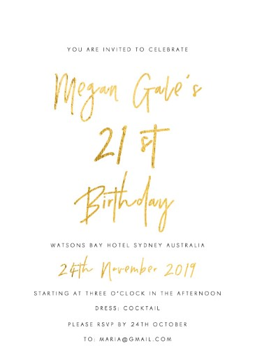 Clair De Lune - birthday invitations