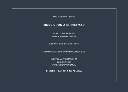 Simplicity - corporate event invitations