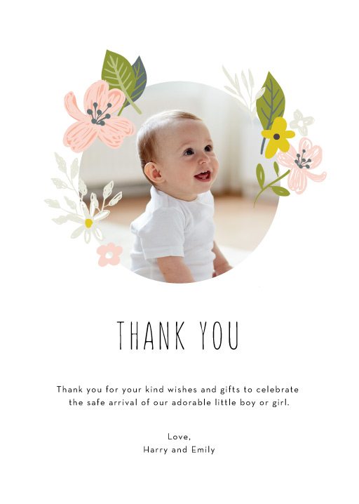 Giggle - baby shower thank you cards