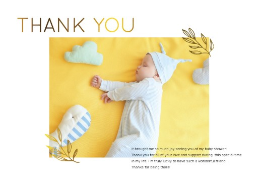 In a Dream - baby shower thank you cards