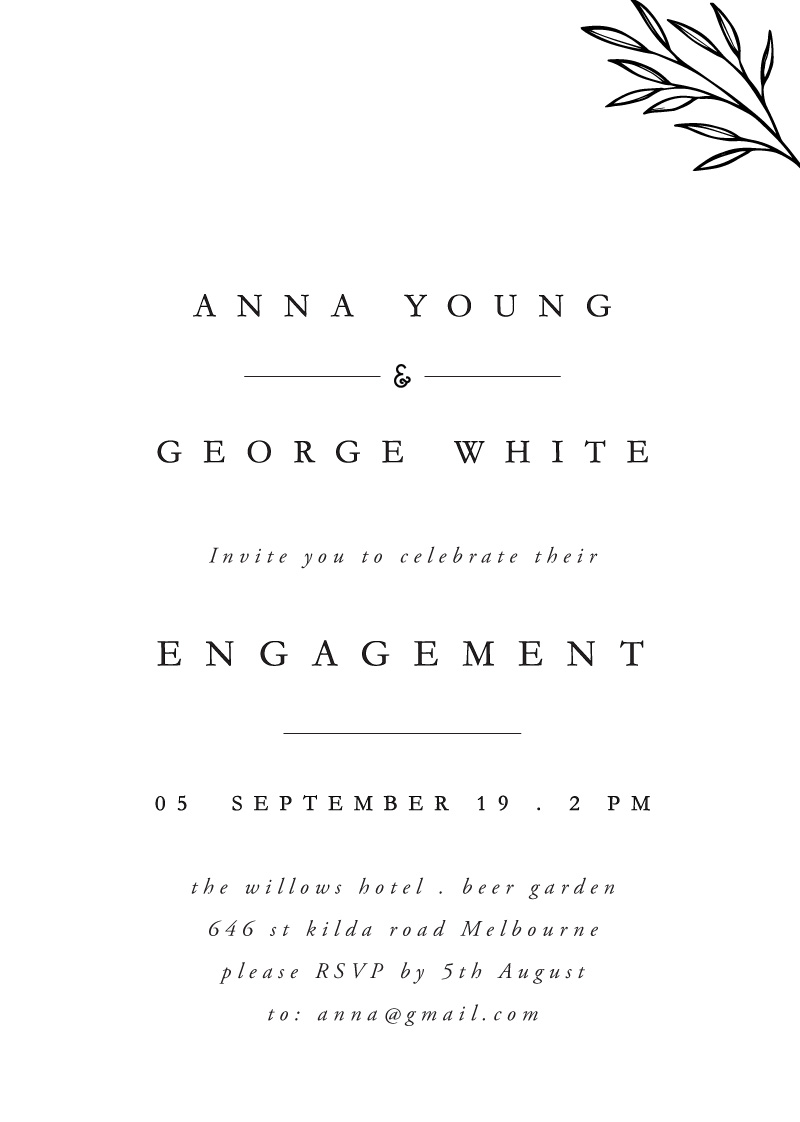 Luna - Engagement Invitations
