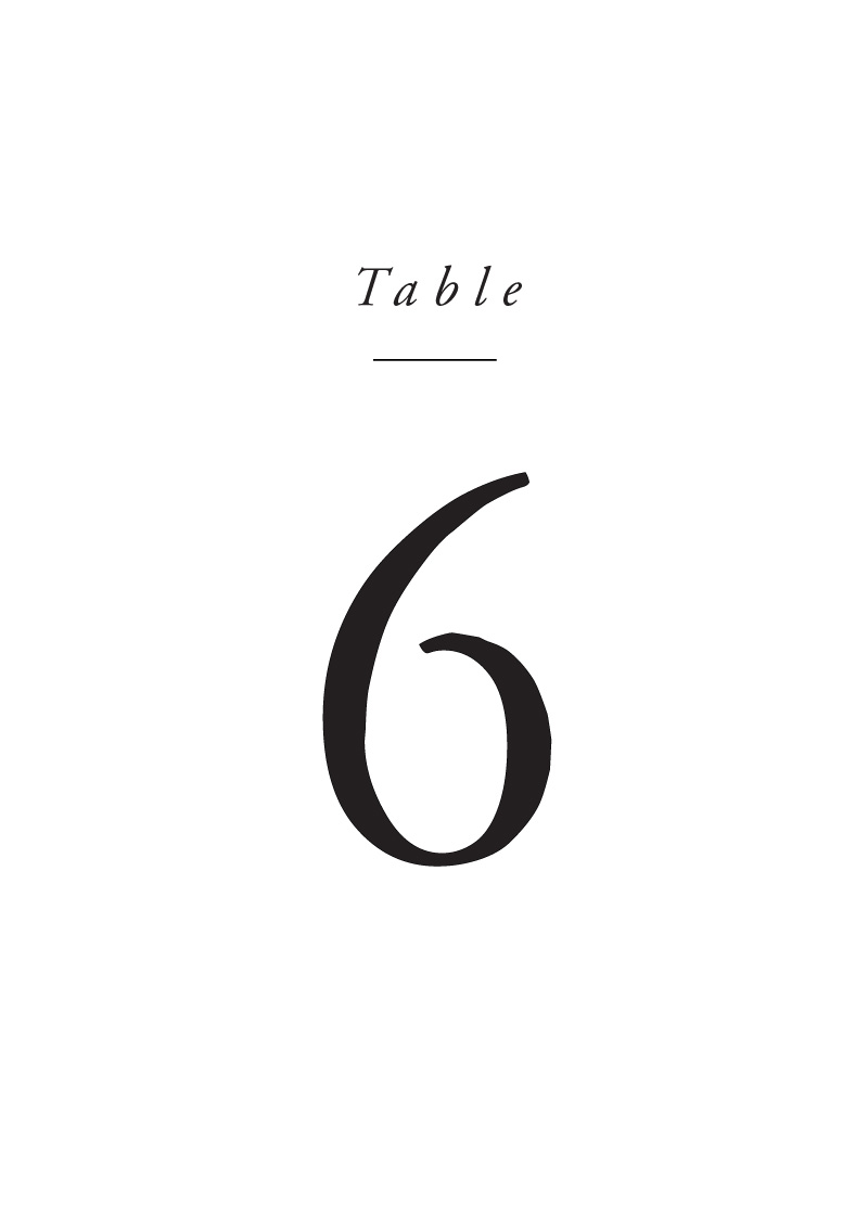 Luna - Table Numbers