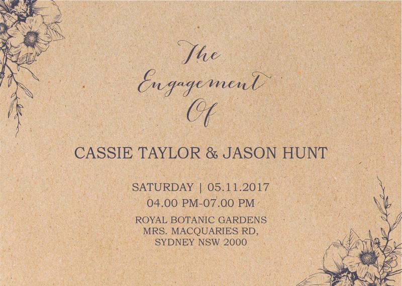 Chic n Rustic - Engagement Invitations