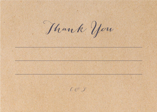 Chic n Rustic - Thank You Cards