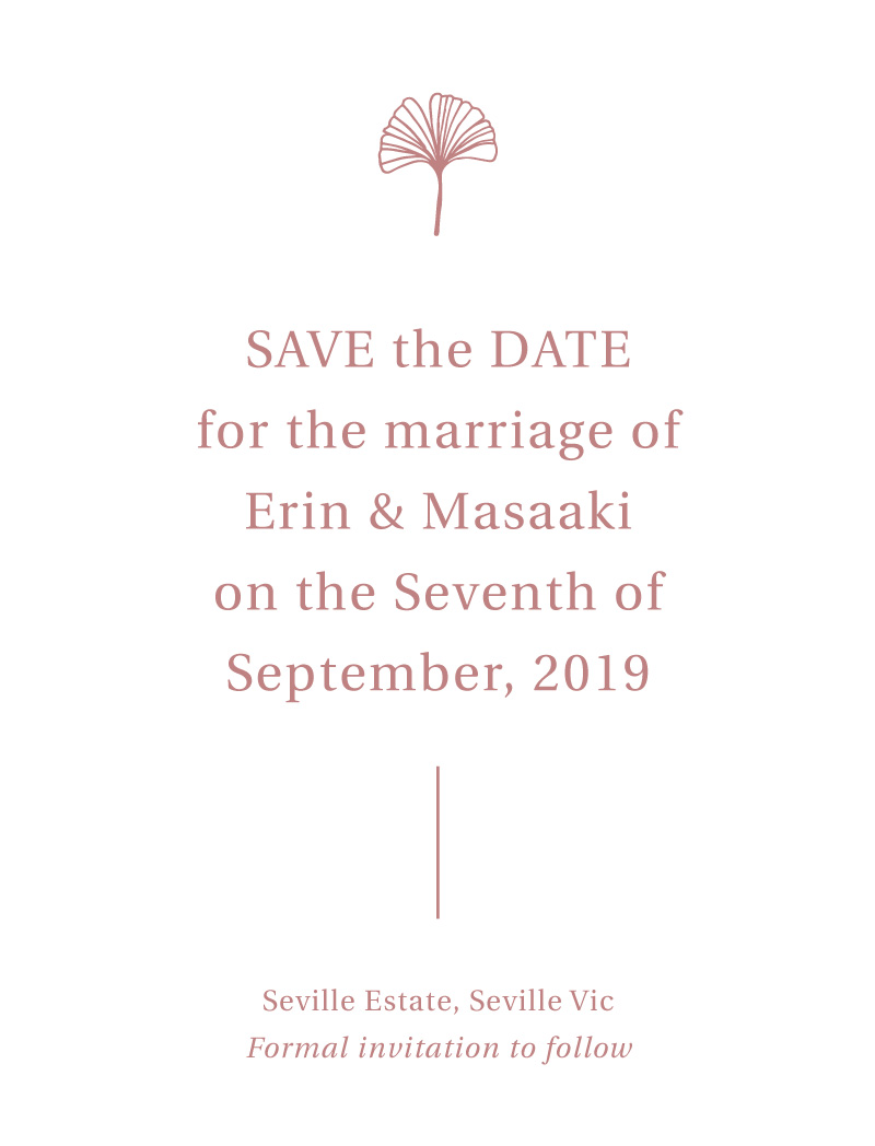 Dancing Ginkgo - Save The Date