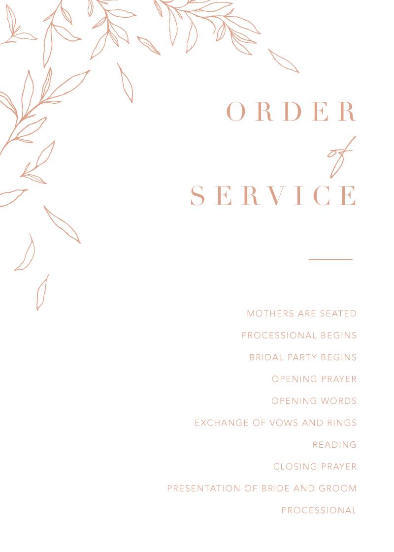 Modern Simplicity - Wedding Programs