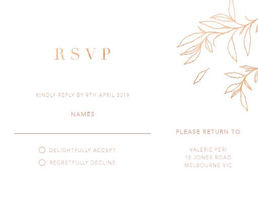 Modern Simplicity - RSVP Cards