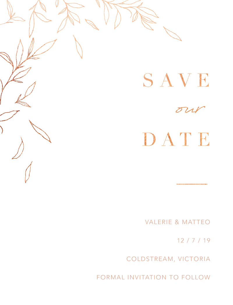 Modern Simplicity - Save The Date