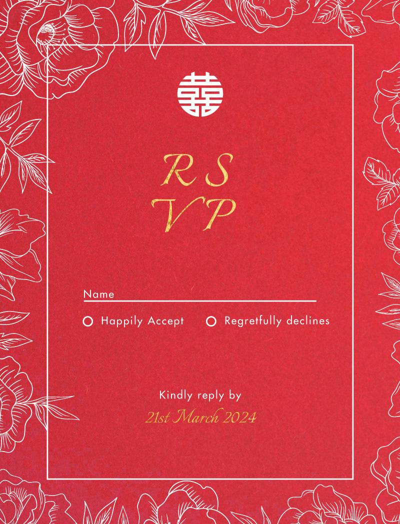 White Ink Camellia - Rsvp