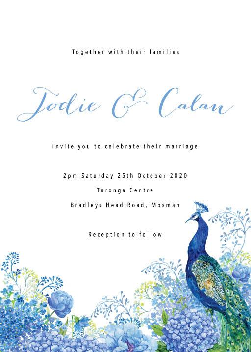 Peacock Wedding Invitations - wedding invitations