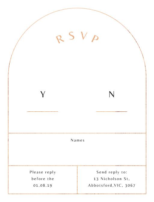 Rose Foil Arch - RSVP Cards