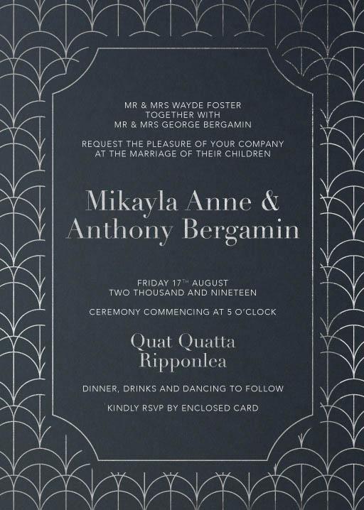1920 Wedding Invitations - wedding invitations