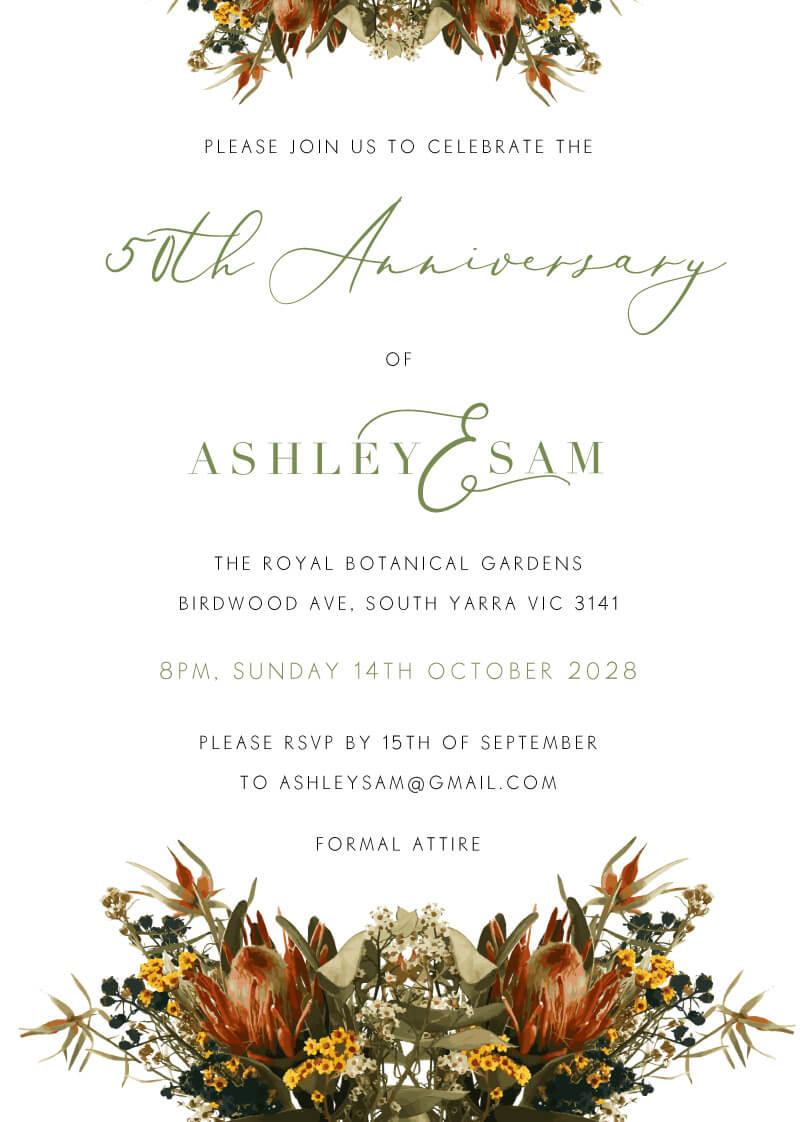 A Native Circle - Wedding Anniversary Invitations