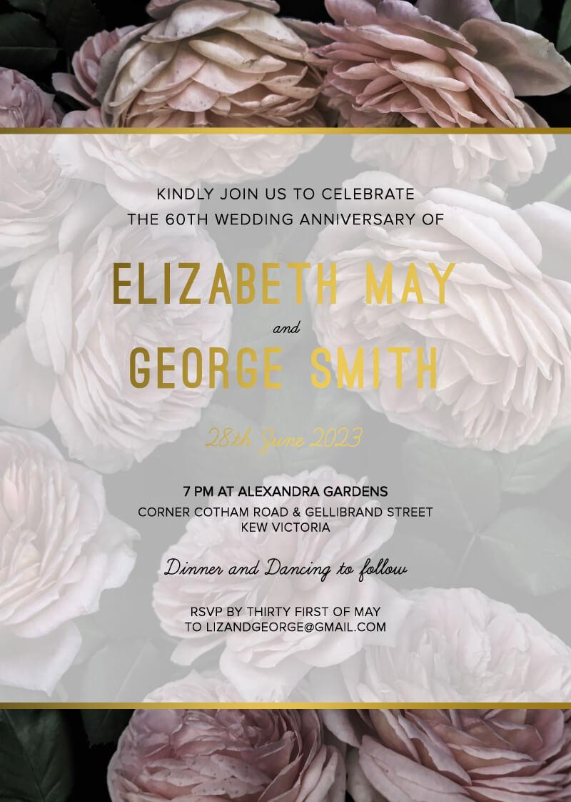 Myrtle Gentry - Wedding Anniversary Invitations
