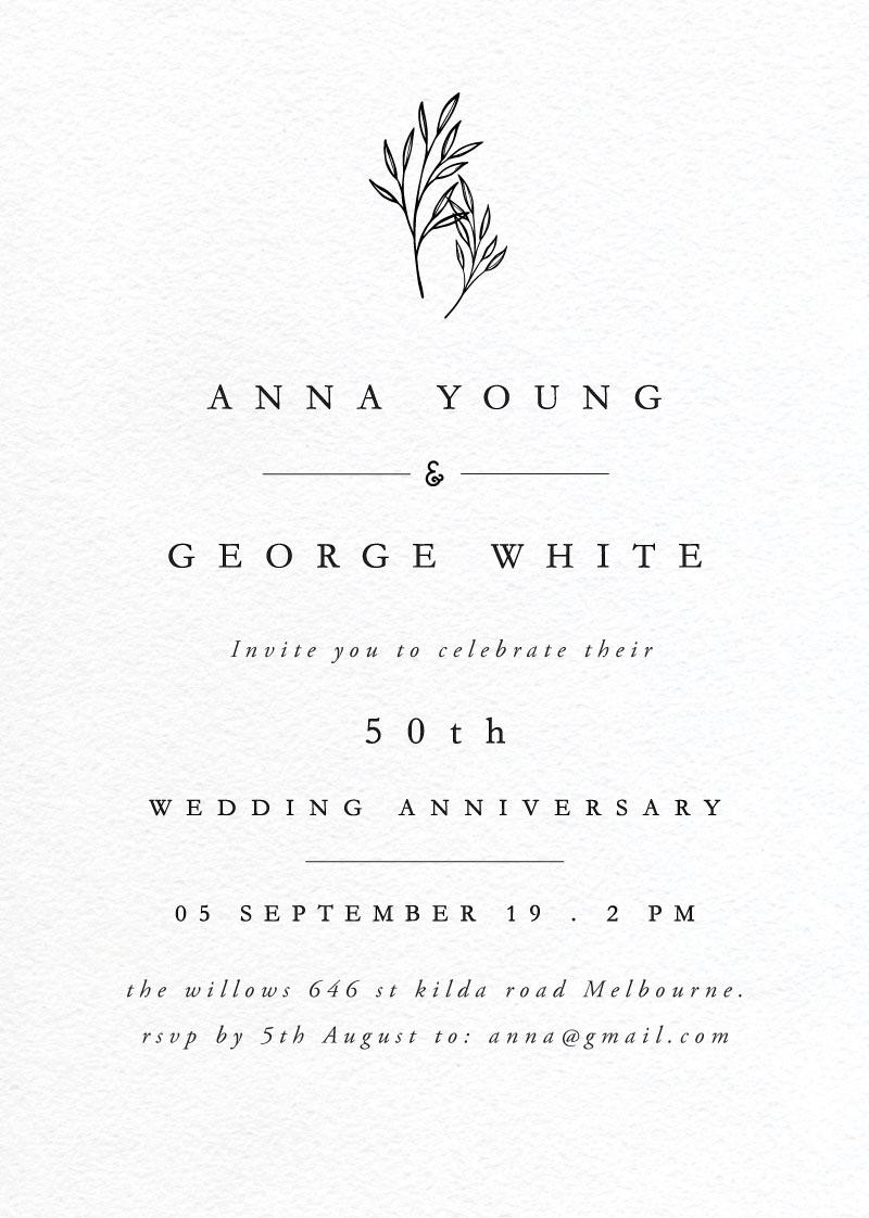 Luna - Wedding Anniversary Invitations