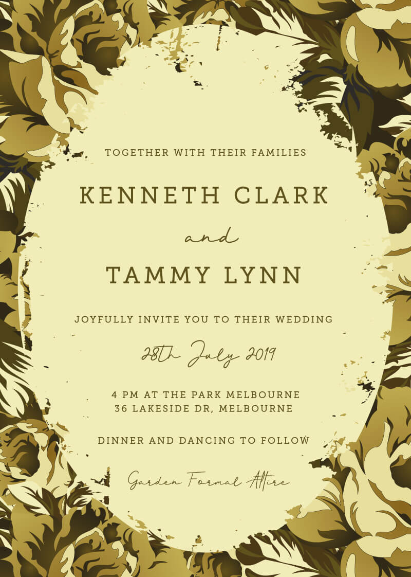 Hunting In Camo - Wedding Invitations