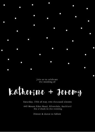 Dots Invitations - wedding invitations