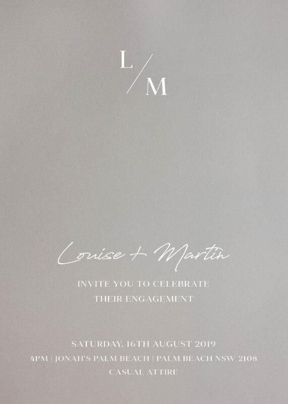 Adore - engagement invitations
