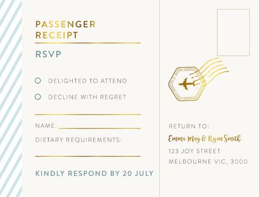 Lets Travel Together - RSVP Cards