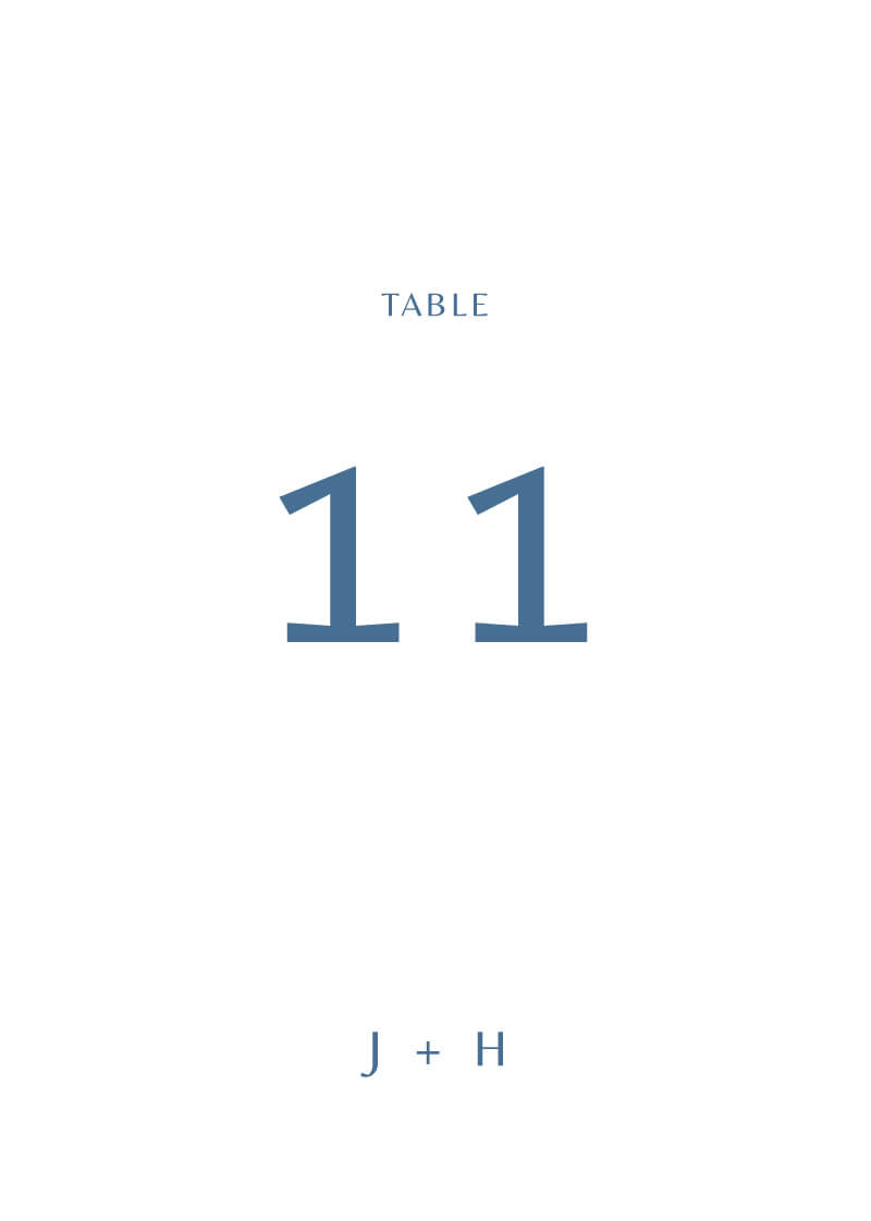 Deep Blue - Table Numbers