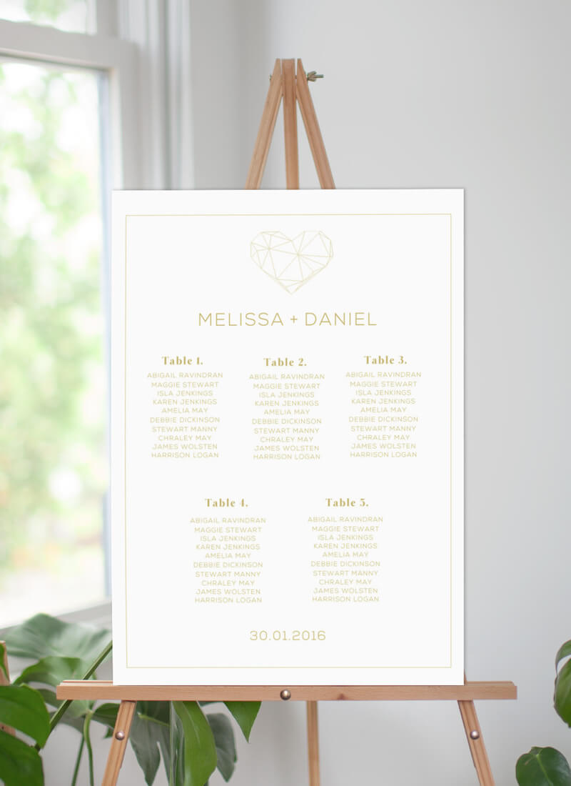 Diamond Love - Seating Charts