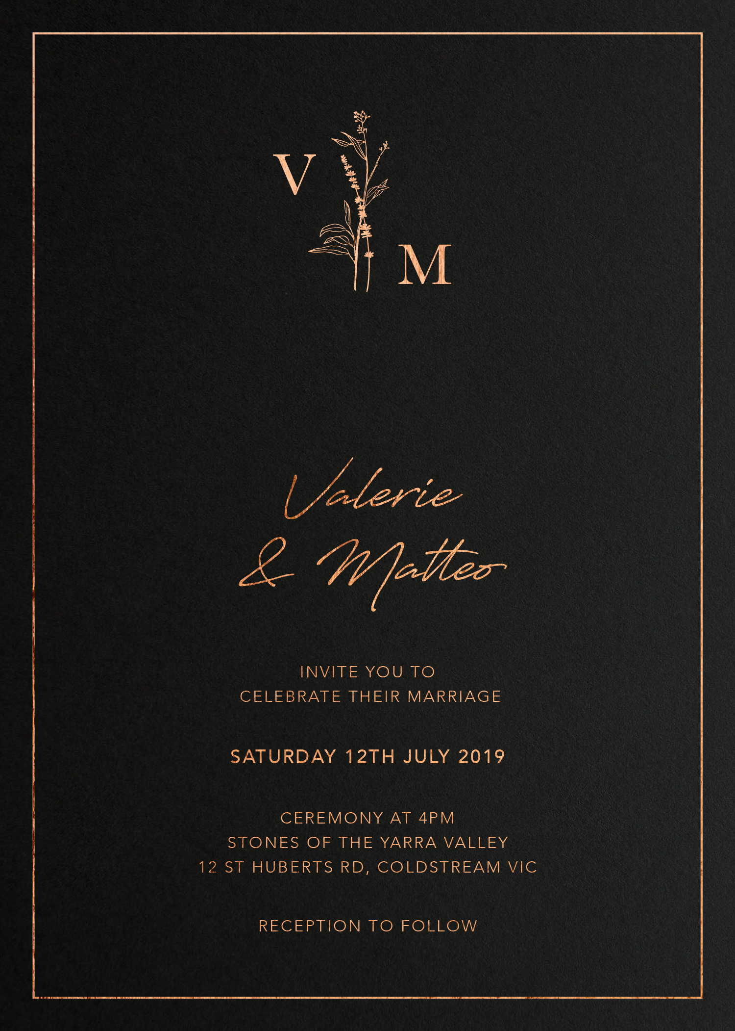 Dark Romance - Wedding Invitations